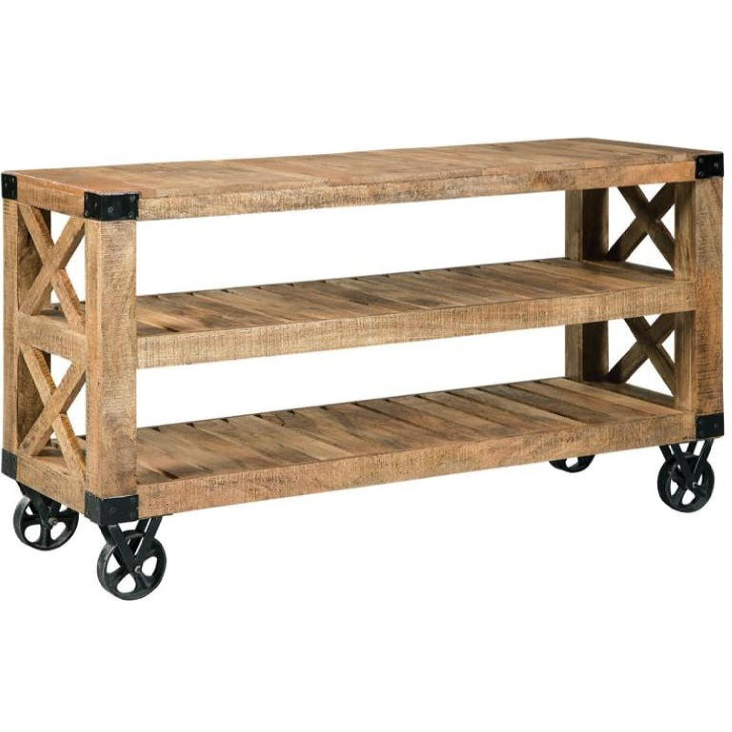Industrial Workshop Style Sofa Table