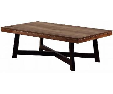 Modern Coffee Table w/ Tapered X Base