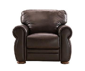 Dark Brown Leather Recliner Chair