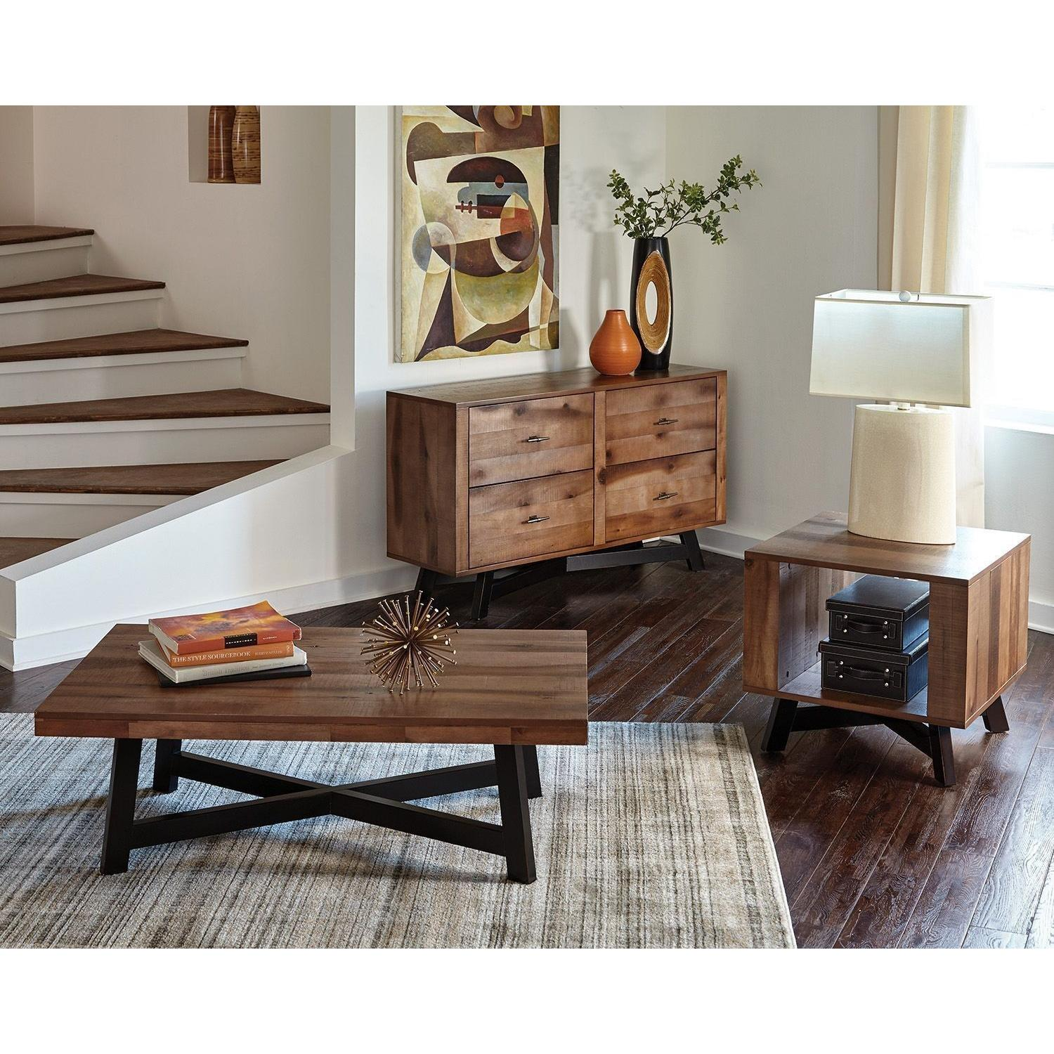 Modern End Table w/ Tapered X Base