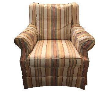 Baker Stripe Patterned Armchair