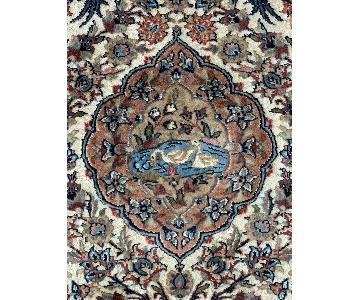 Handwoven Wool & Silk Persian Area Rug