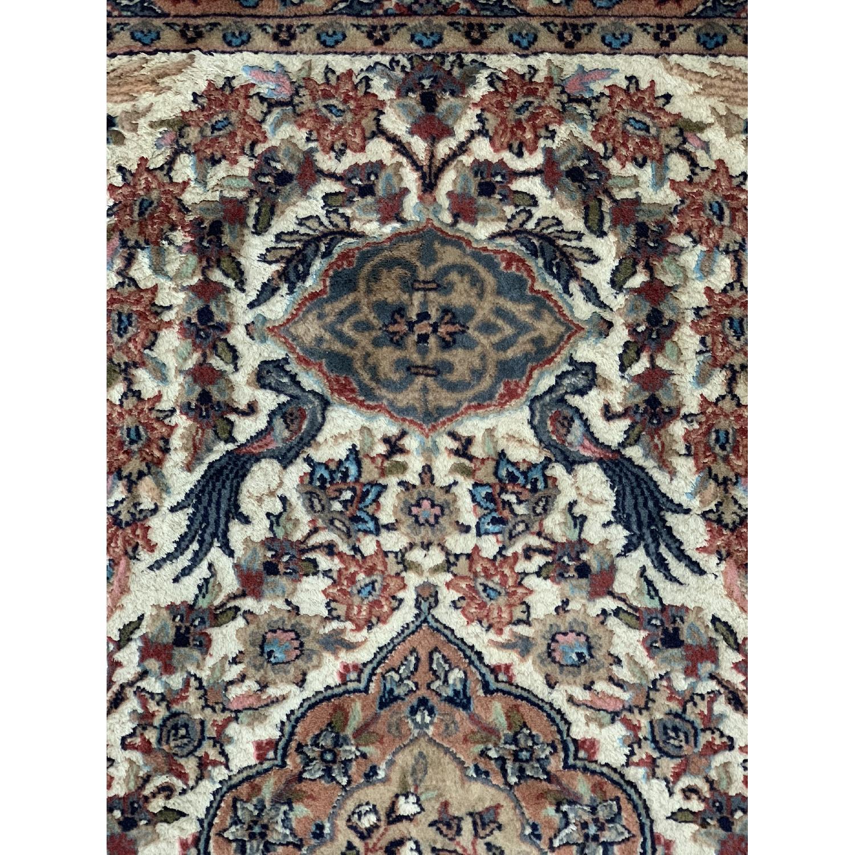 Handwoven Wool Silk Persian Area Rug