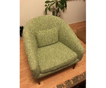 Mid-Century Modern Refurbished Lawrence Peabody Lounge Chair