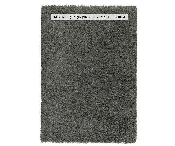 Ikea Gaser Dark Gray High-Pile Rug