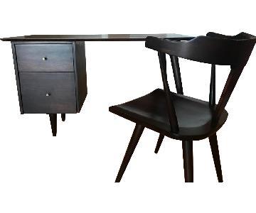 Paul McCobb Mid-Century Modern Planner Desk & Chair