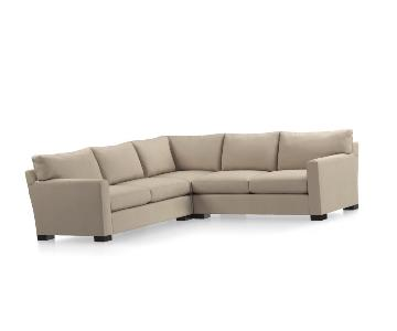 Crate & Barrel Axis II 2-Piece Sectional Sofa in Camel