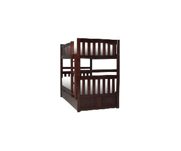 Raymour & Flanigan Belisar Twin-Over-Twin Storage Bunk Bed