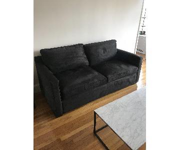 Crate & Barrel Barrett Black Sofa