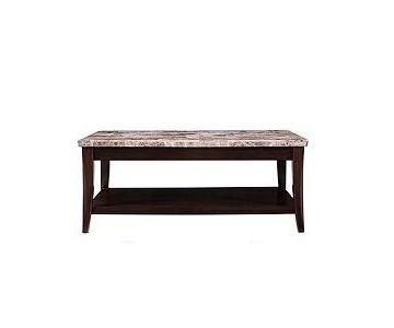 Raymour & Flanigan Dark Cherry Granite Coffee Table