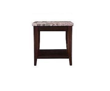 Raymour & Flanigan Dark Cherry Granite End Table