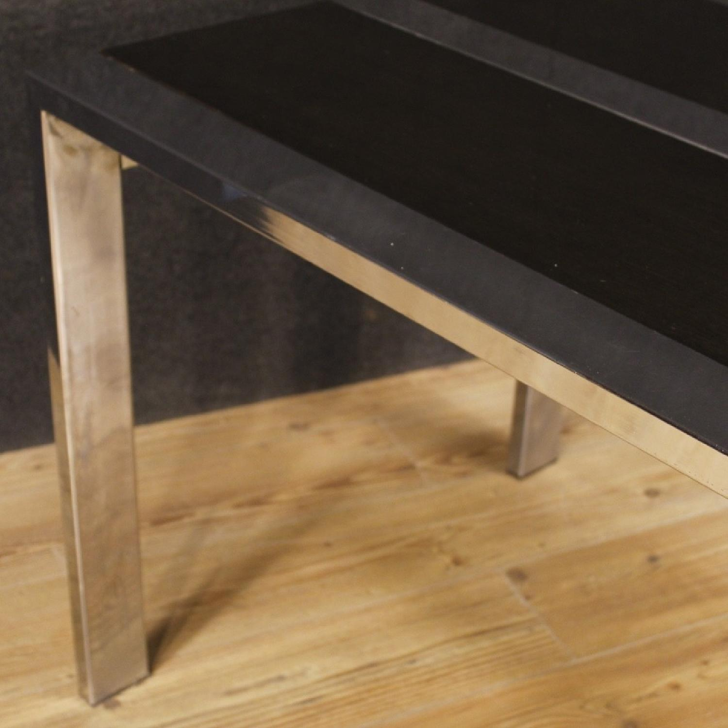 20th Century 1970 Wood & Metal Italian Design Table