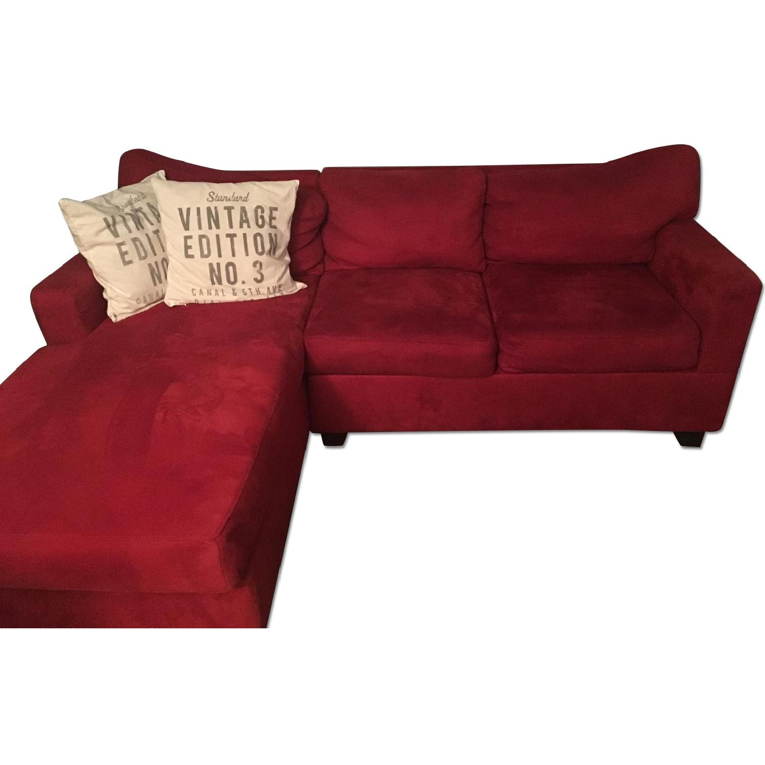 Red Sectional Sofa w/ Chaise