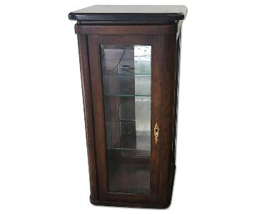 Marble Topped Display Pedestal Cabinets