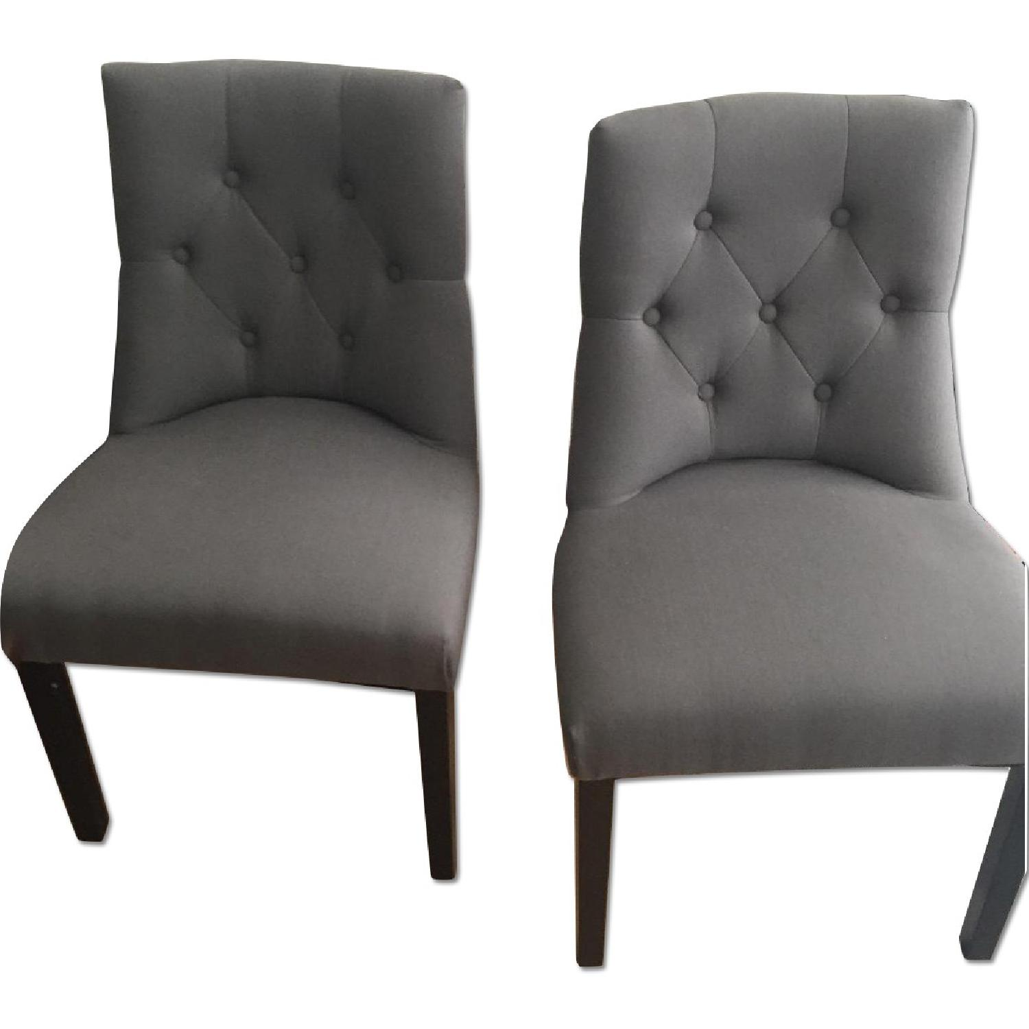 Bellcrest Button Tufted Upholstered Dining Chairs Aptdeco