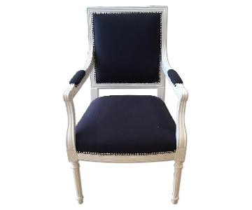 Jonathan Adler Navy Louis Arm Chair