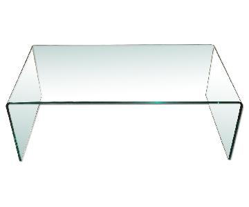 Cascade Glass Minimalist Coffee Table