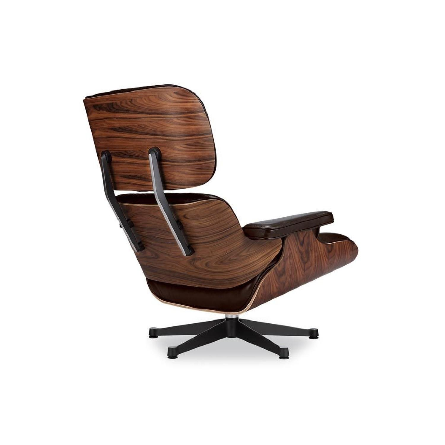 Astounding Eames Lounge Chair Replica In Brown Aptdeco Pabps2019 Chair Design Images Pabps2019Com