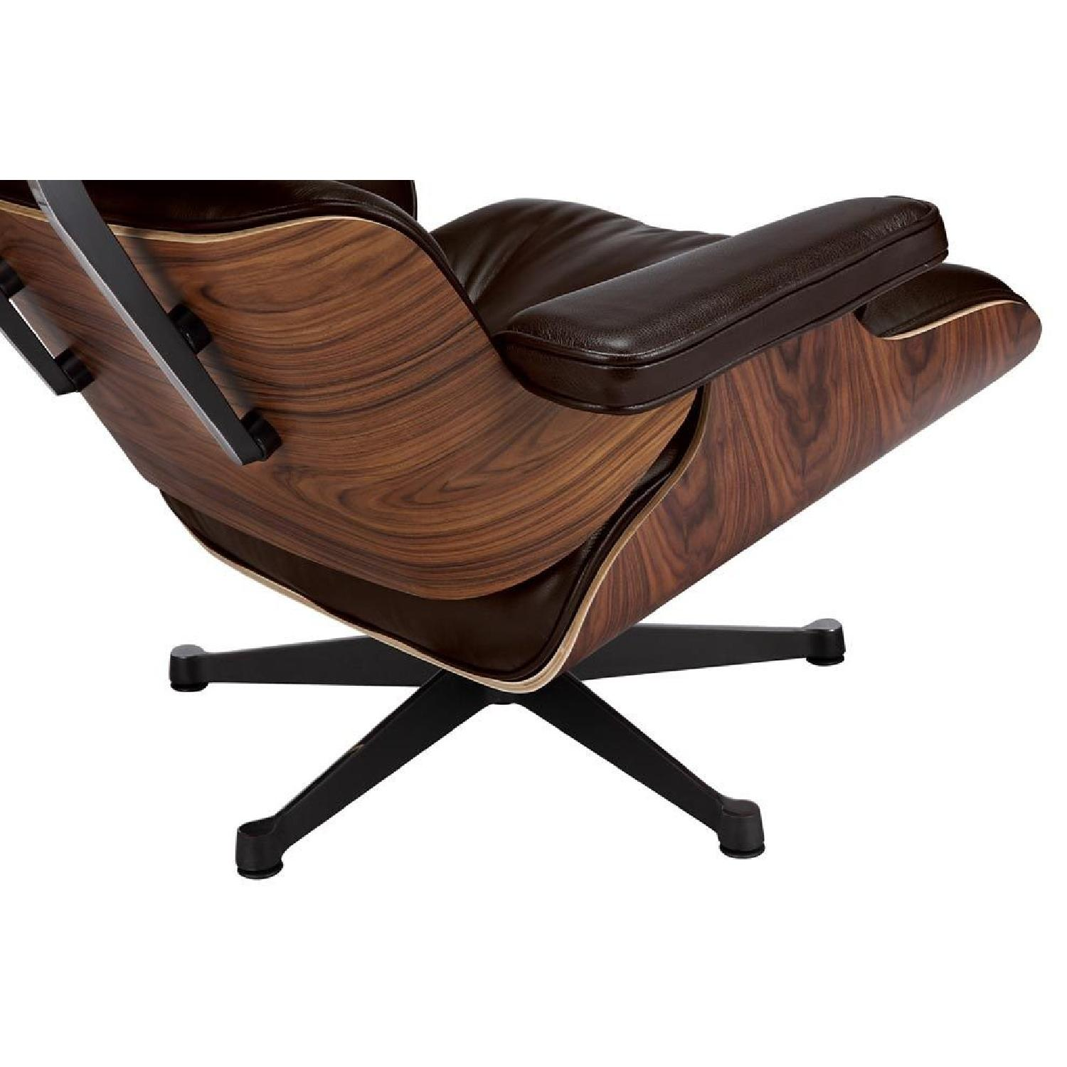 Surprising Eames Lounge Chair Replica In Brown Aptdeco Pabps2019 Chair Design Images Pabps2019Com