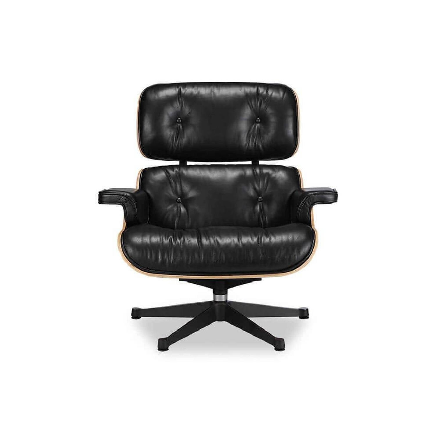 Eames Lounge Chair Replica U0026 Ottoman In Black ...