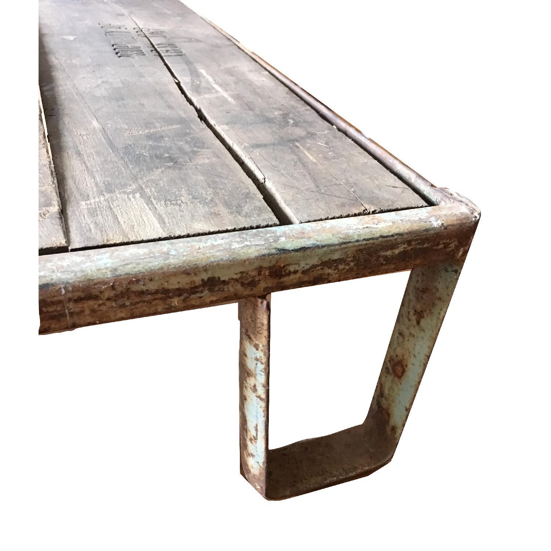 Vintage Industrial Skid Pallet Low Coffee Table
