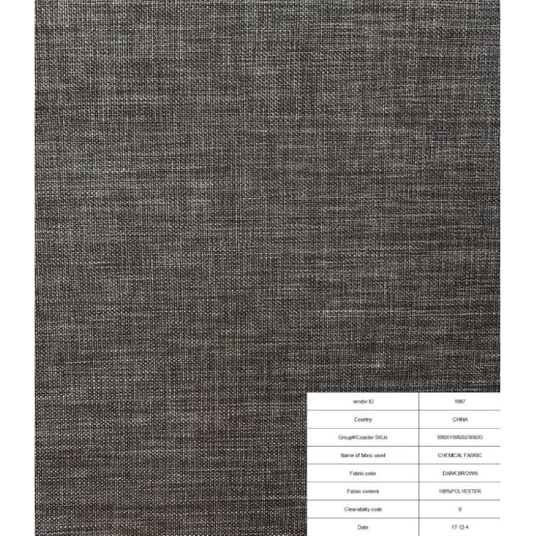 Contemporary Loveseat in Dark Brown Woven Fabric
