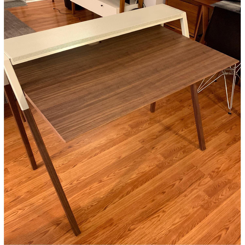 Blue Dot Cant Desk in Walnut/Grey-1