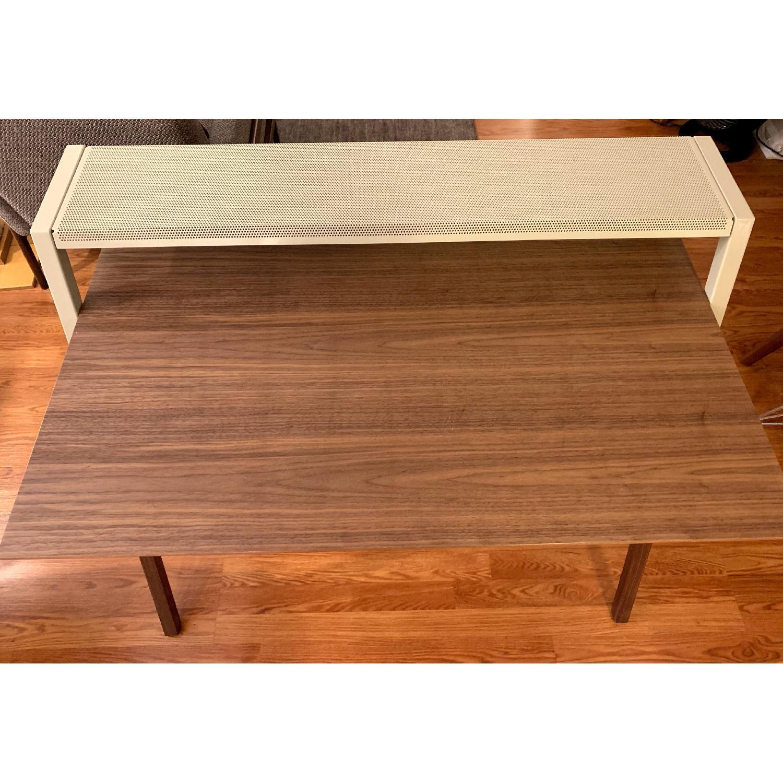 Blue Dot Cant Desk in Walnut/Grey-2