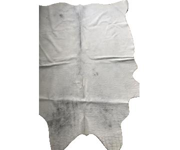 White Croc Embossed Cowhide Rug