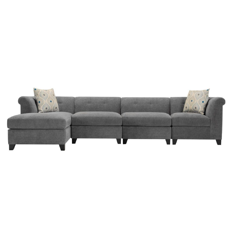 Raymour U0026 Flanigan Corolla Microfiber Sectional Sofa ...