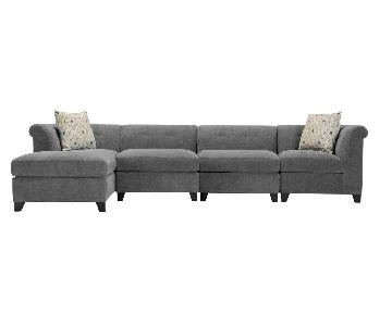 Raymour & Flanigan Corolla Microfiber Sectional Sofa