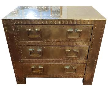 Antique Brass Small Dresser/Nightstand/End Table