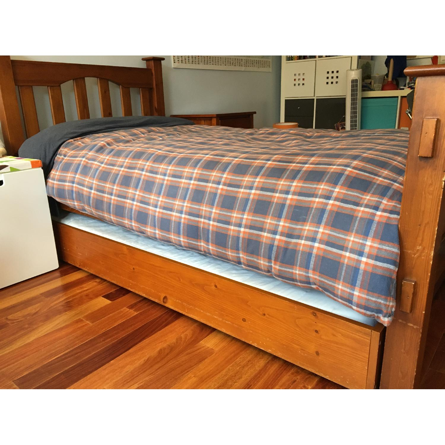 Pottery Barn Kendall Twin Bed w/ Trundle - image-1