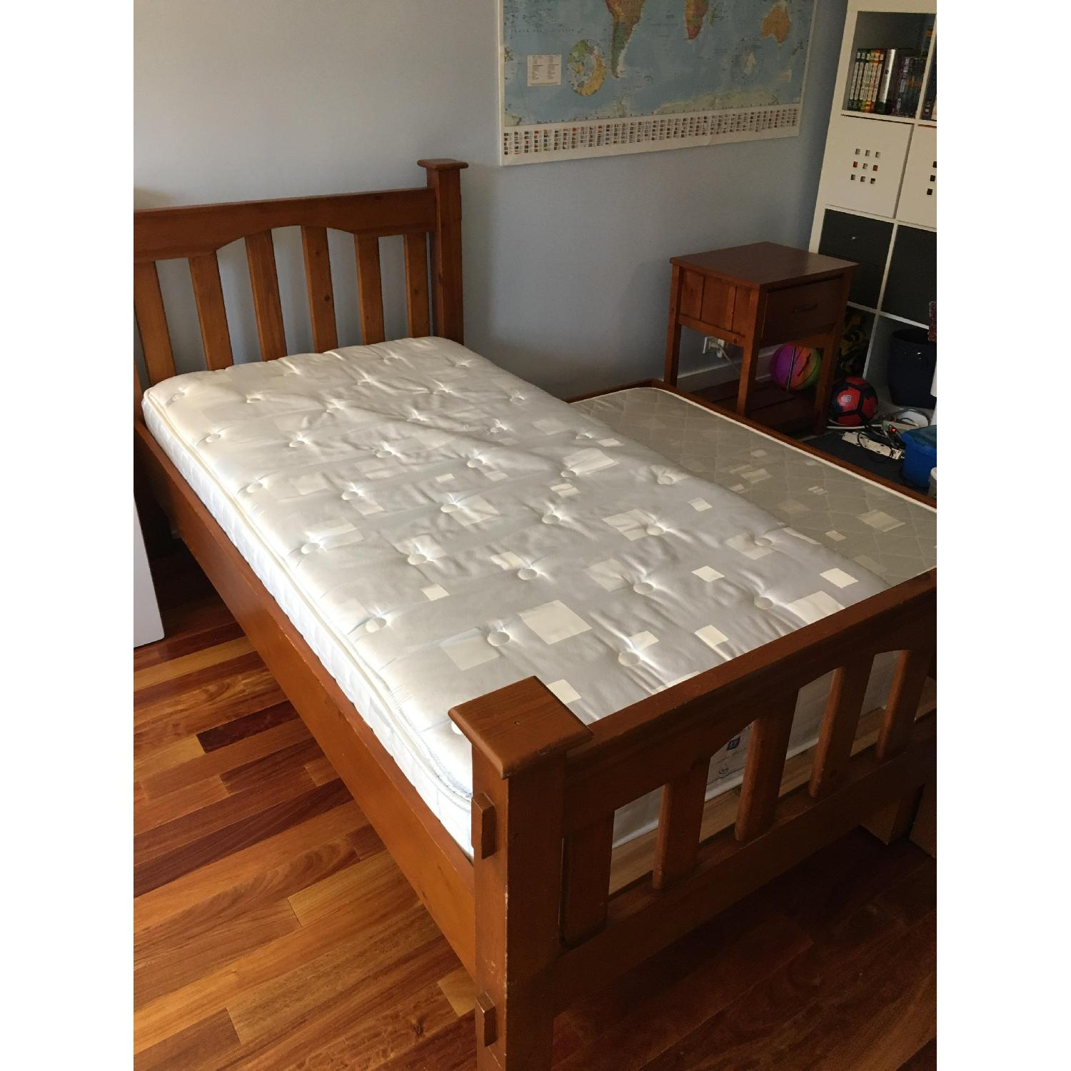 Pottery Barn Kendall Twin Bed w/ Trundle - image-2