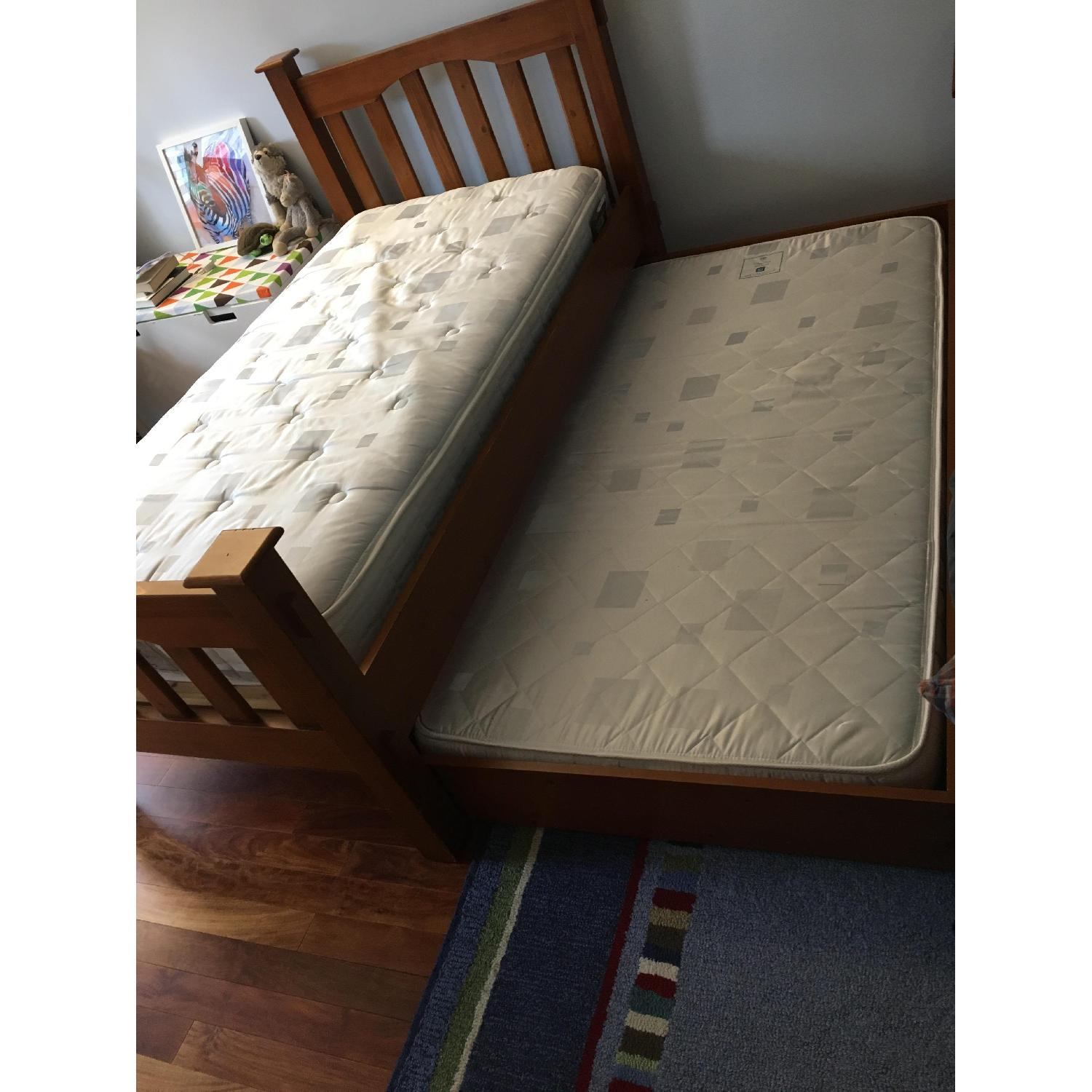 Pottery Barn Kendall Twin Bed w/ Trundle - image-3