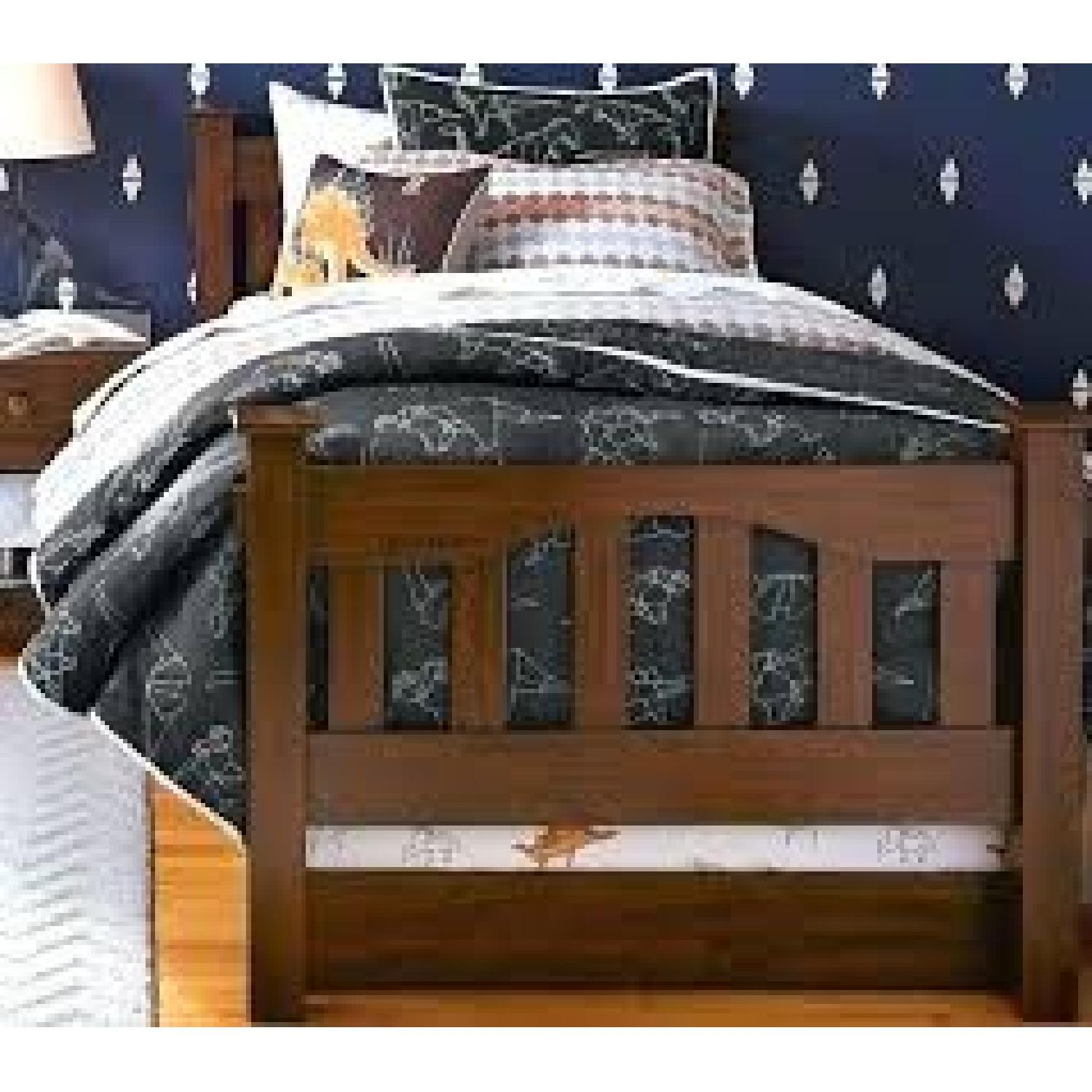 Pottery Barn Kendall Twin Bed w/ Trundle - image-13