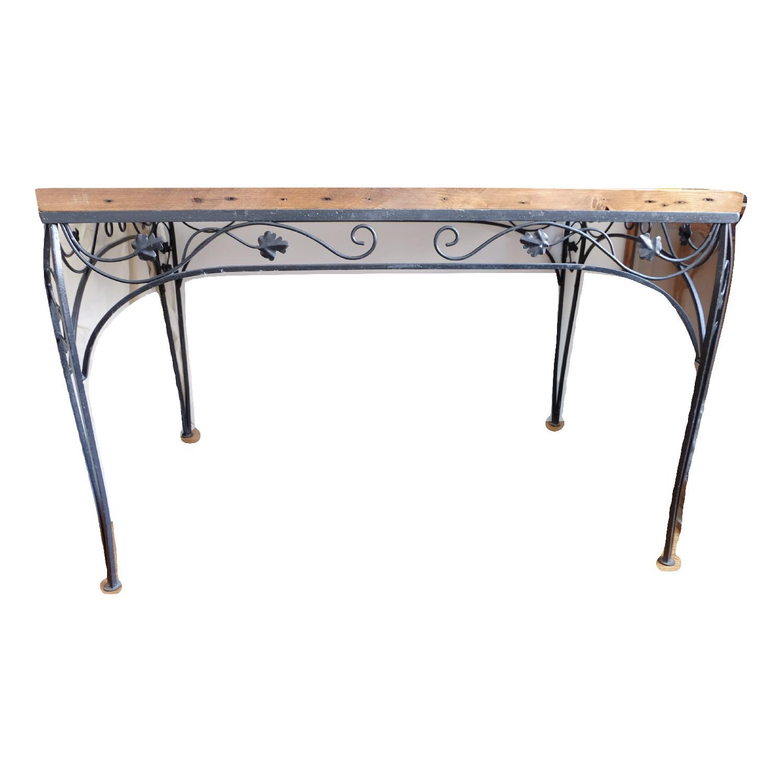 Vintage Reclaimed Maple Barn Table Top/Metal Base Table