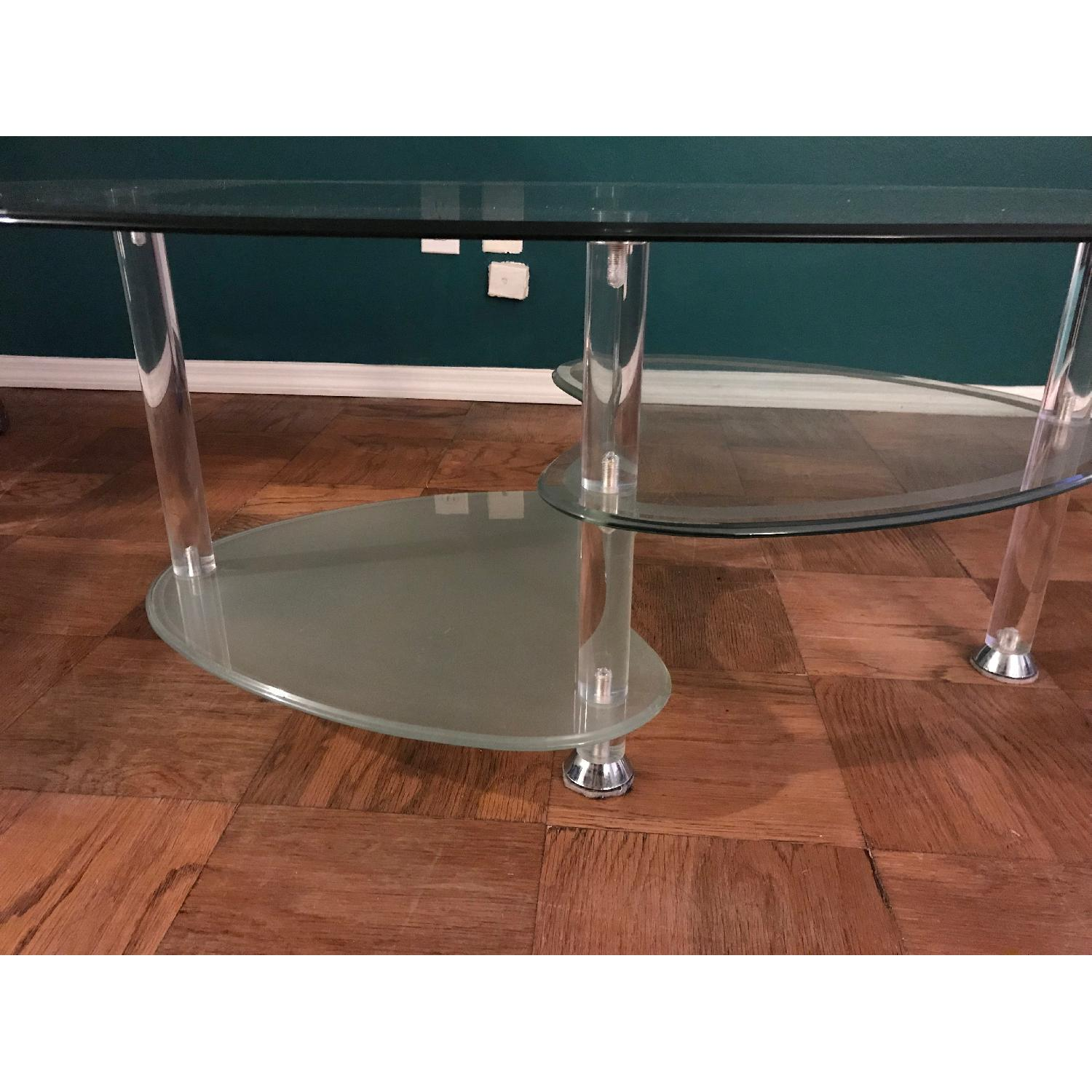 ... Modern Oval Tempered Glass Coffee Table 0 ...