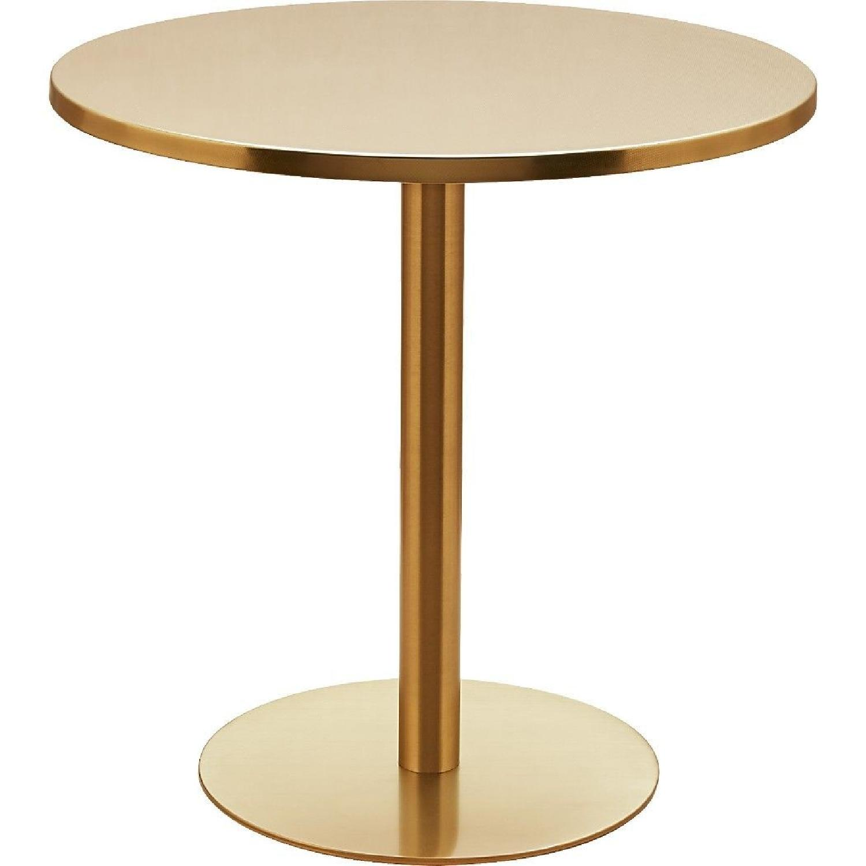CB Brass Bistro Table AptDeco - Cb2 accent table