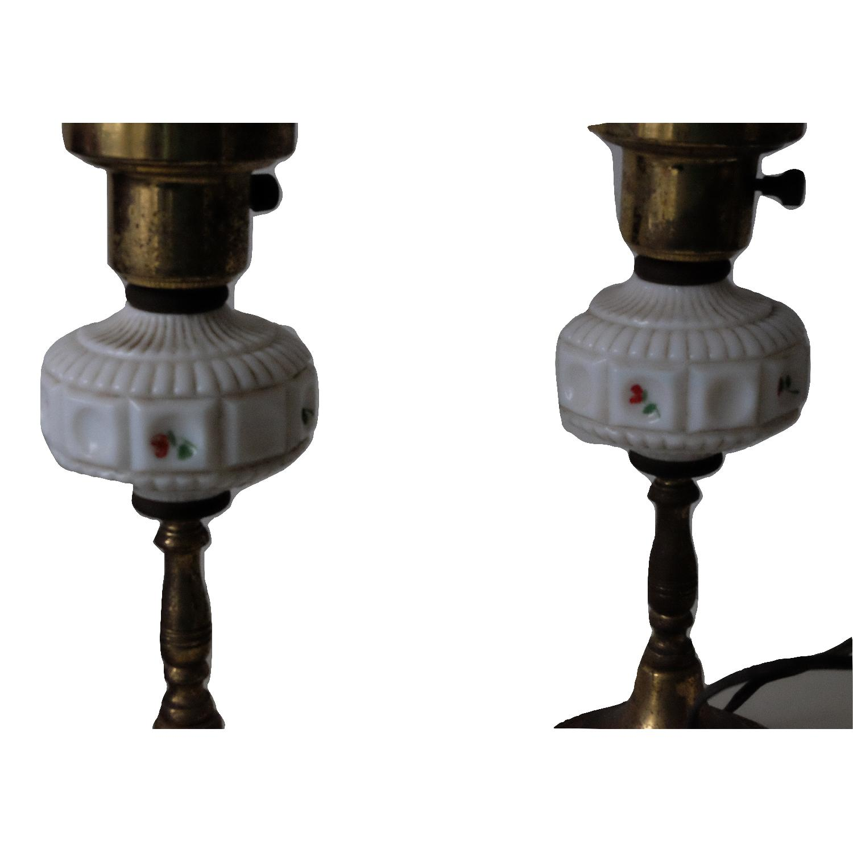 Vintage Glass & Metal Table Lamps-1