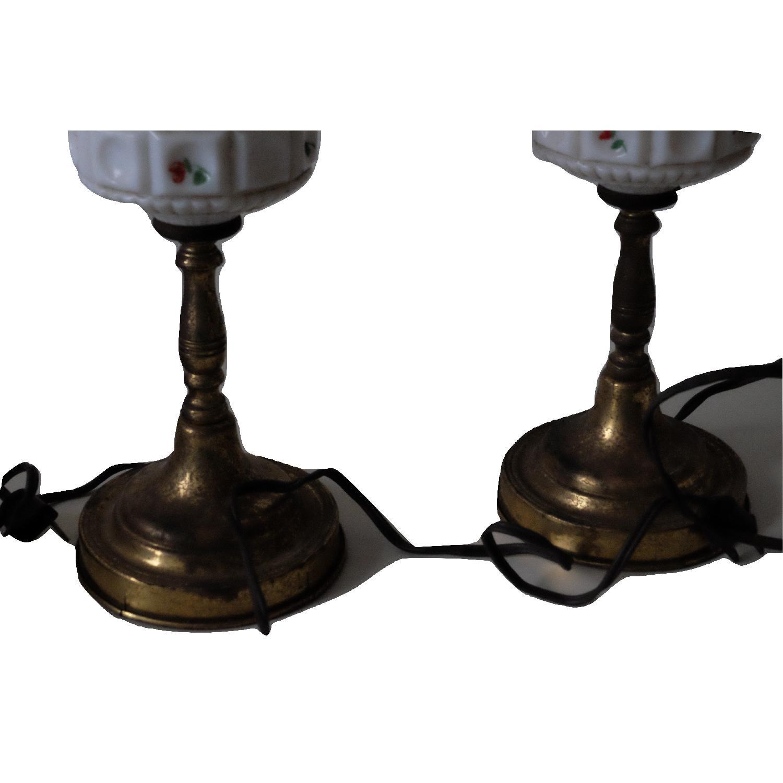 Vintage Glass & Metal Table Lamps-2