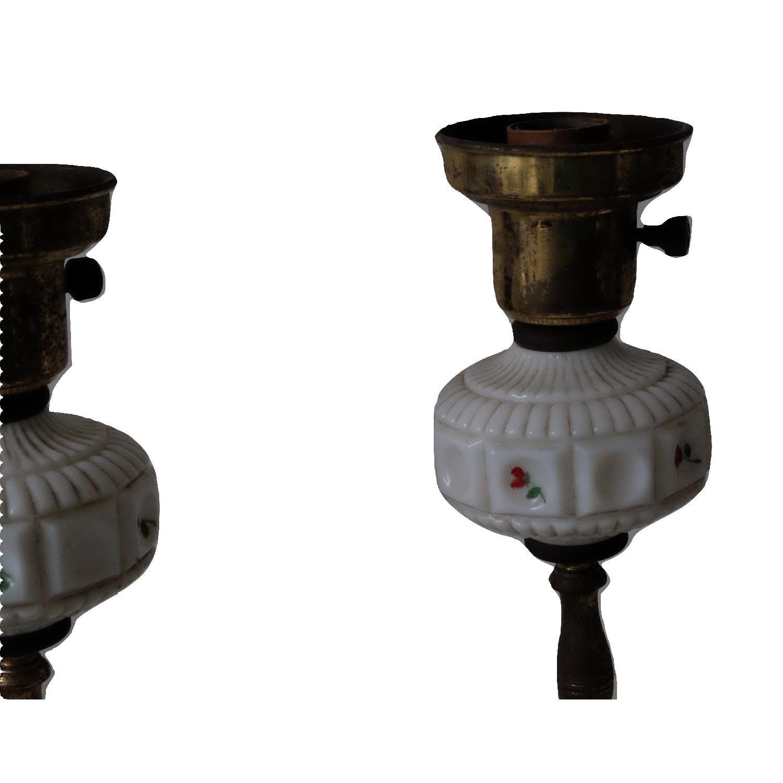 Vintage Glass & Metal Table Lamps-3