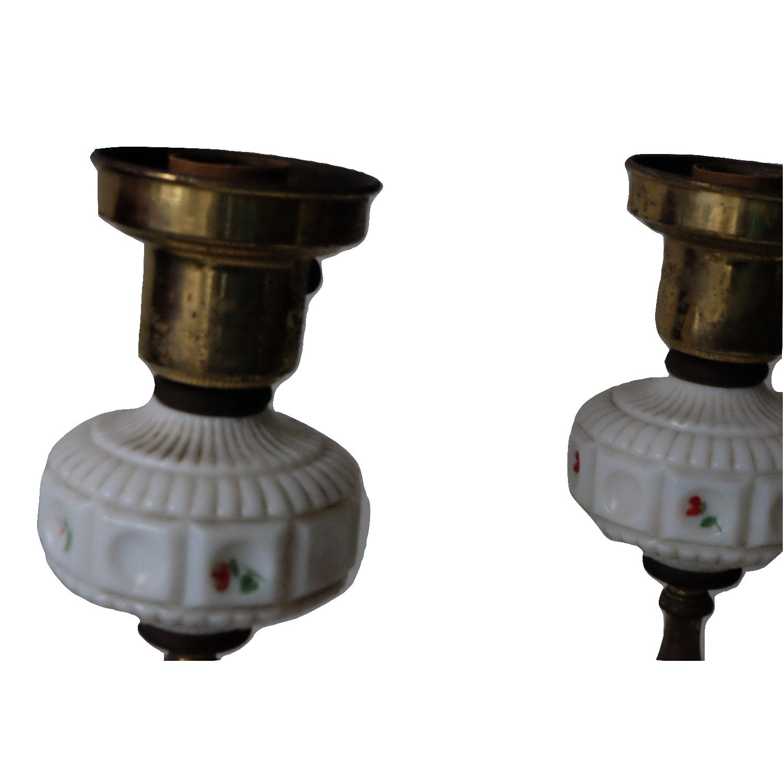 Vintage Glass & Metal Table Lamps