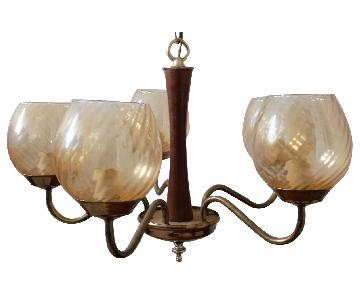 Vintage Mid Century Hanging Lamp Chandelier