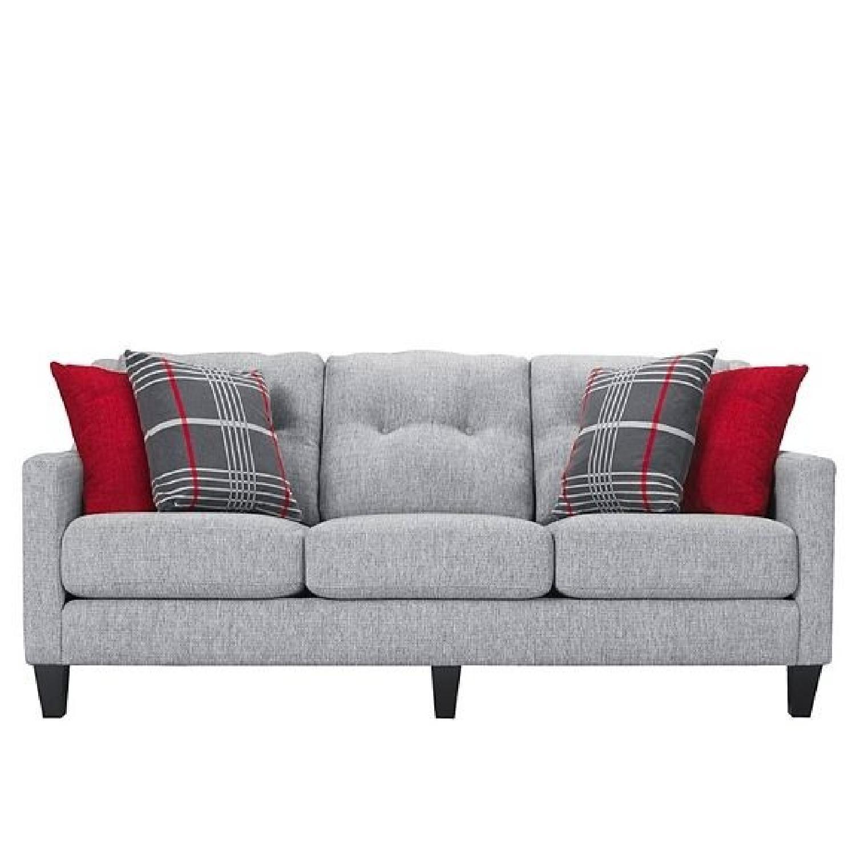 Raymour U0026 Flanigan Finnegan Modern Grey Sofa ...