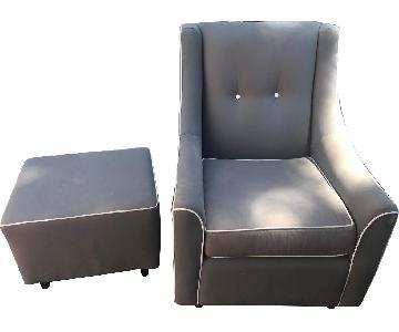 Buy Buy Baby Grey Nursing Chair
