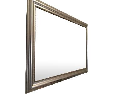 Ikea Large Wall Mirror in Vintage Silver Finish Frame
