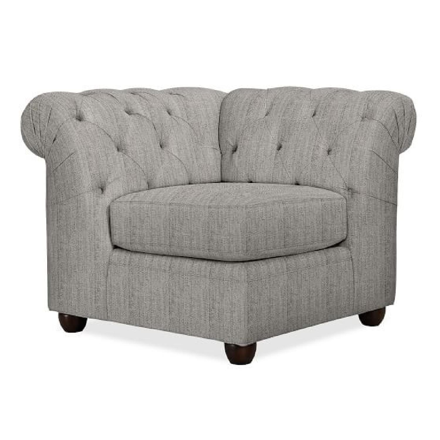 Pottery Barn Chesterfield Tufted Upholstered Corner Chair