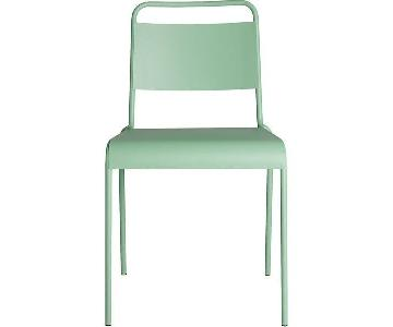CB2 Lucinda Stacking Chair in Mint