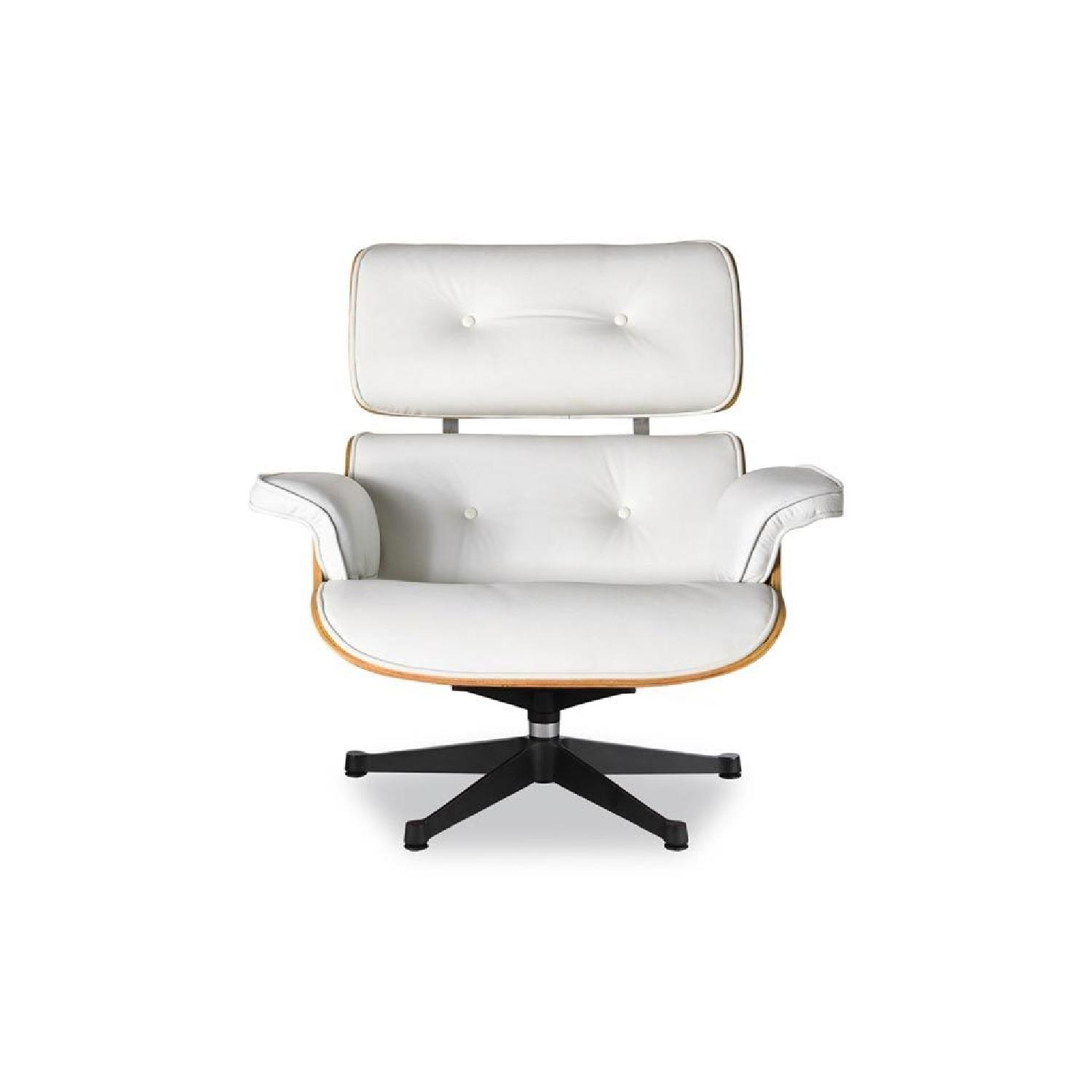 Magnificent Manhattan Home Design Eames Lounge Chair In White Aptdeco Caraccident5 Cool Chair Designs And Ideas Caraccident5Info